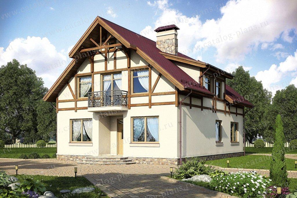 Проект жилой дом #55-07 материал - газобетон, стиль немецкий