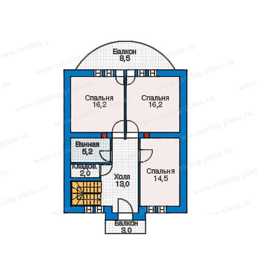 План 2-этажа проекта 55-20