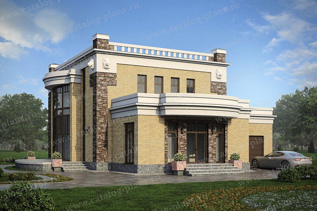 Проект жилой дом #56-21 материал - газобетон, стиль классический