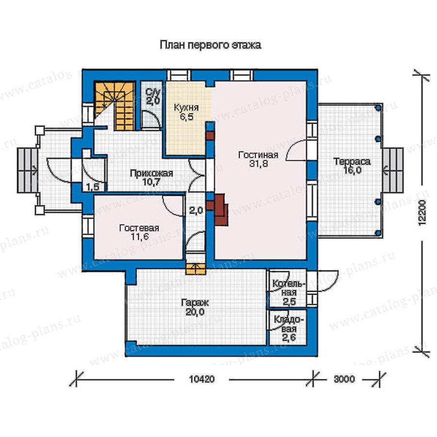 План 1-этажа проекта 55-16