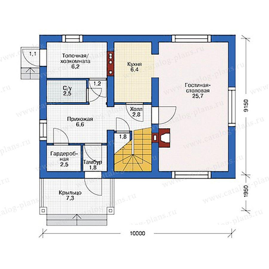 План 1-этажа проекта 55-31