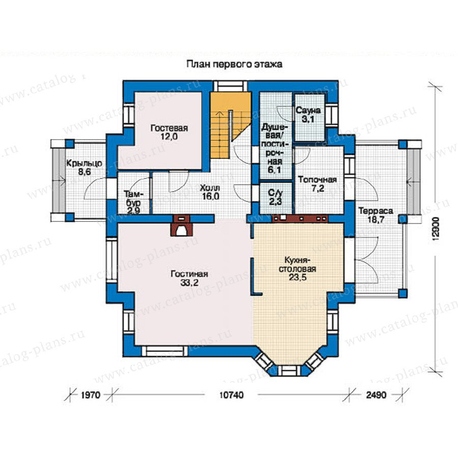 План 1-этажа проекта 54-87
