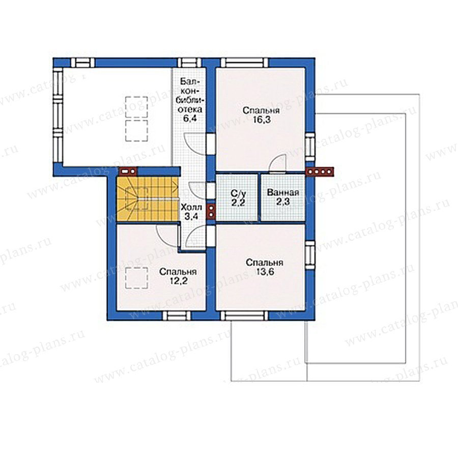 План 2-этажа проекта 55-47