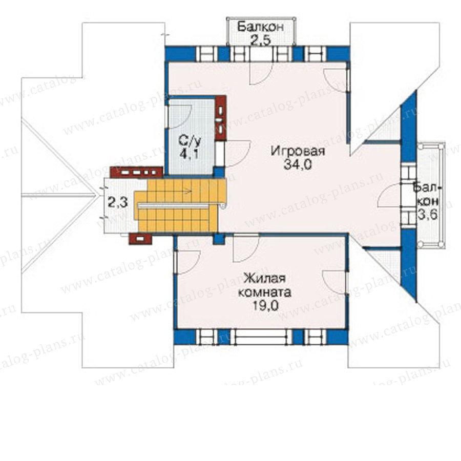 План 3-этажа проекта 55-04