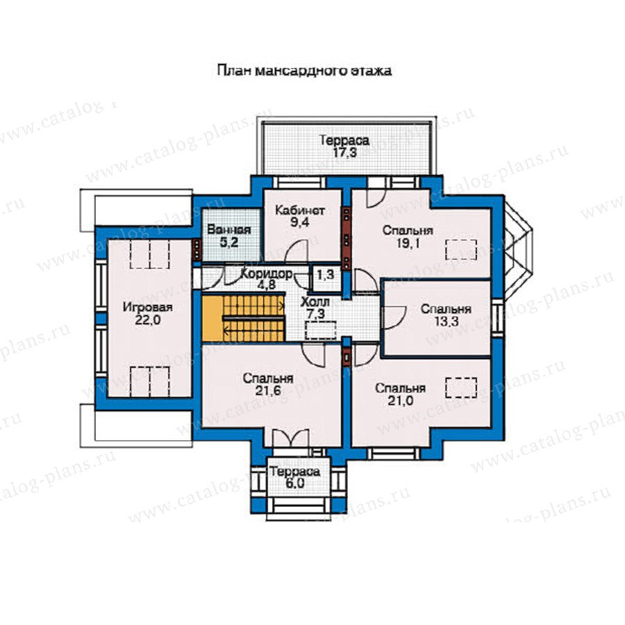 План 2-этажа проекта 54-96