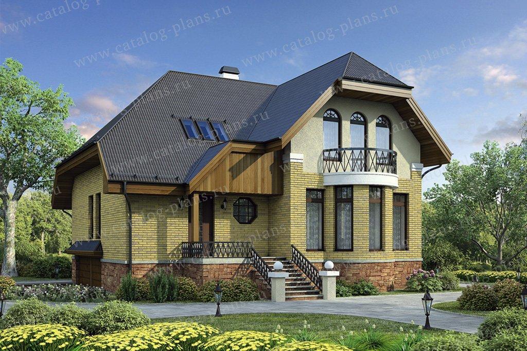 Проект жилой дом #55-00 материал - газобетон, стиль голландский