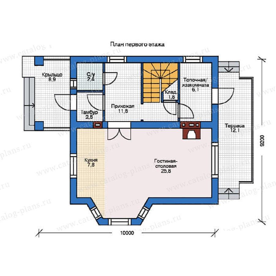 План 1-этажа проекта 54-95