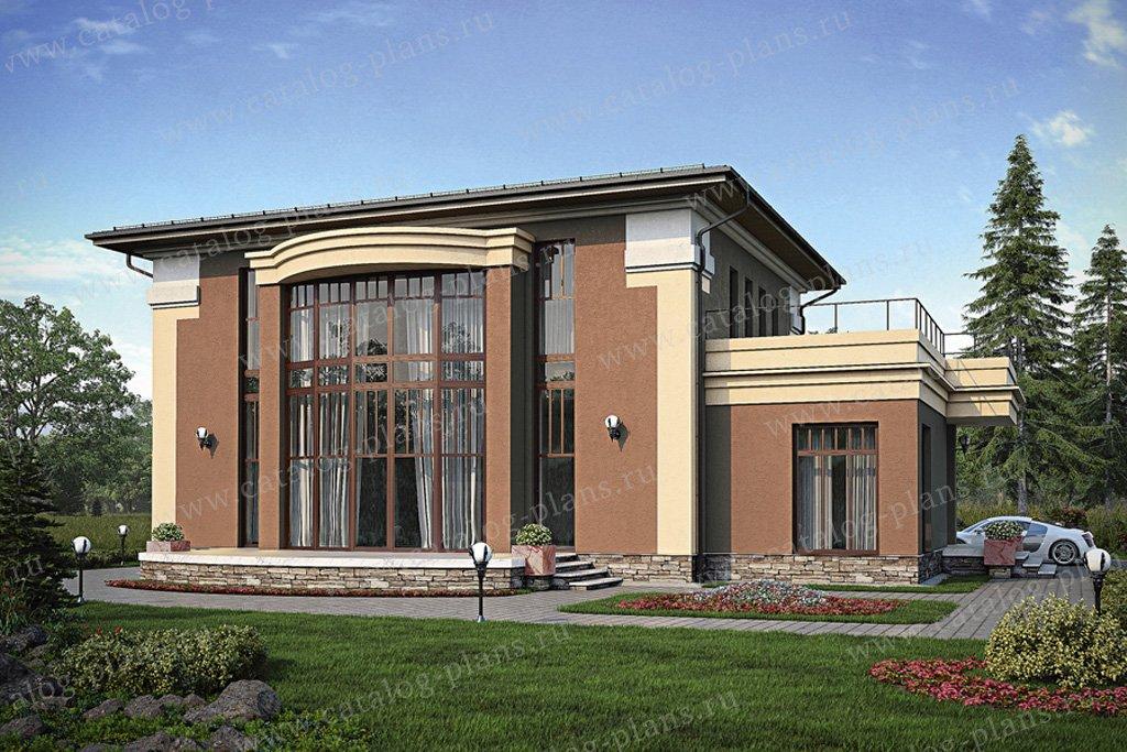 Проект жилой дом #56-20 материал - газобетон, стиль современный