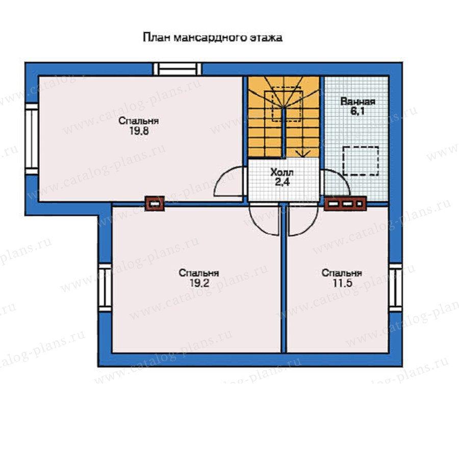 План 2-этажа проекта 54-95