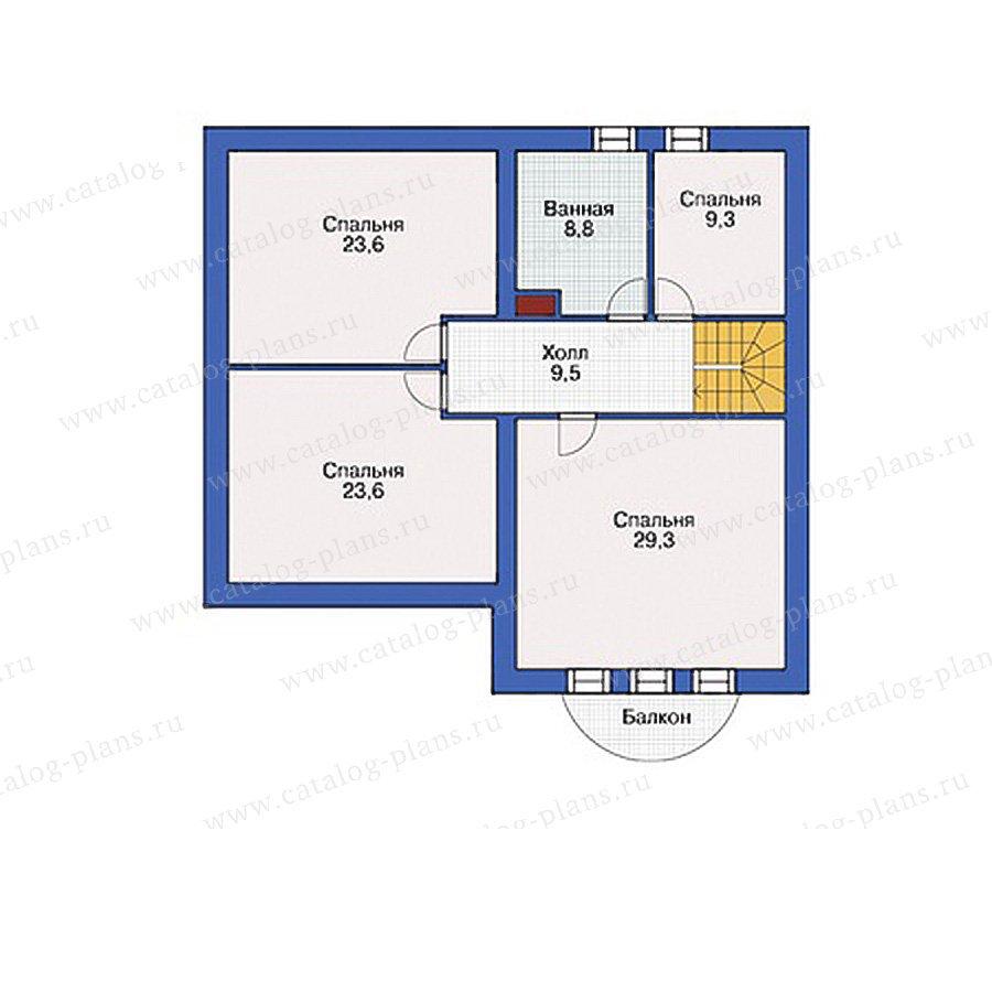 План 3-этажа проекта 55-00