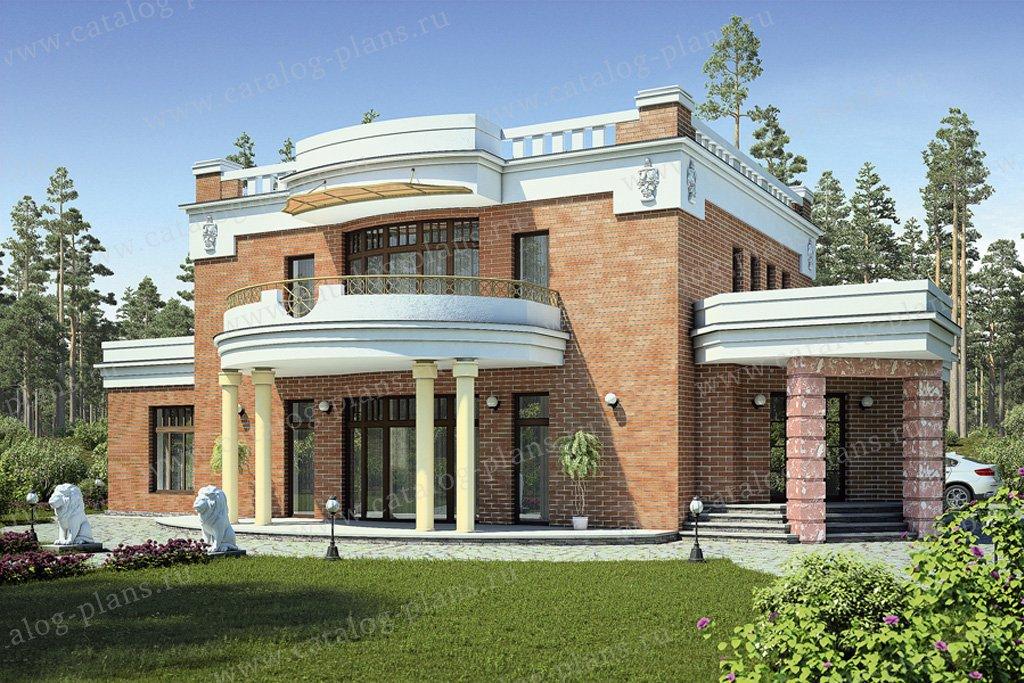 Проект жилой дом #55-48 материал - газобетон, стиль классический