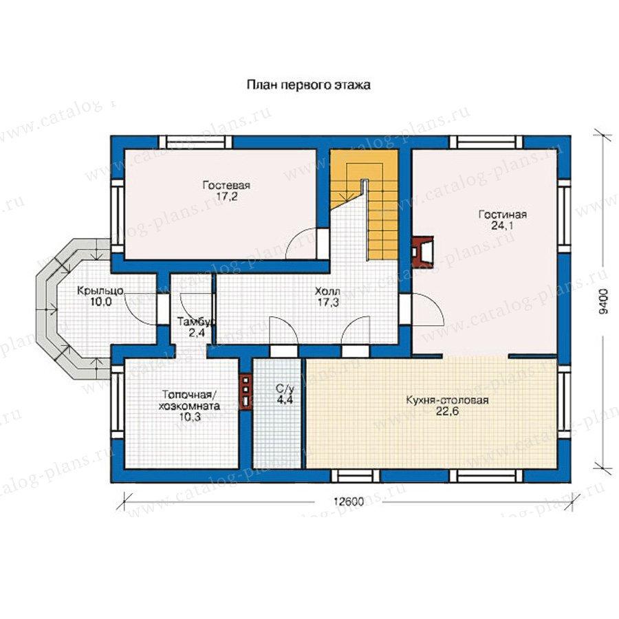 План 1-этажа проекта 55-07