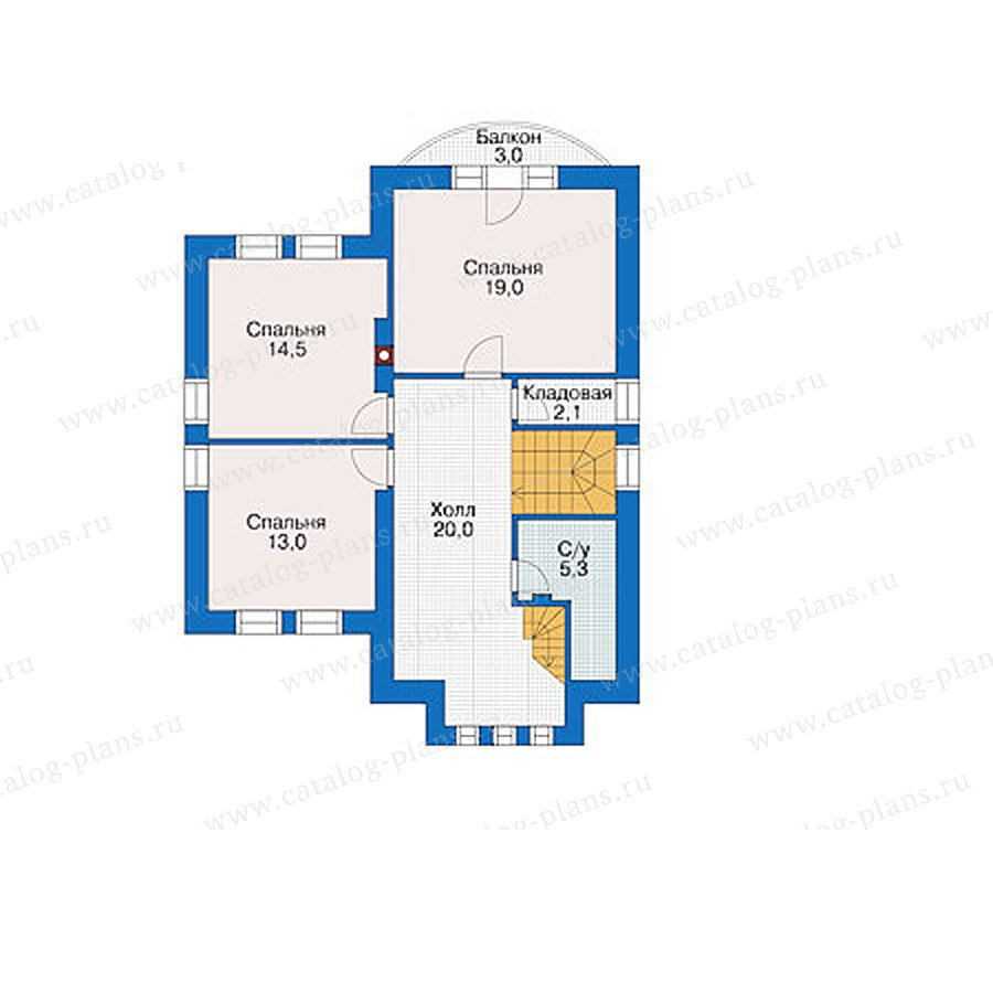 План 2-этажа проекта 55-88