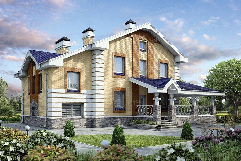 Проект жилой дом #55-03 материал - газобетон, стиль современный