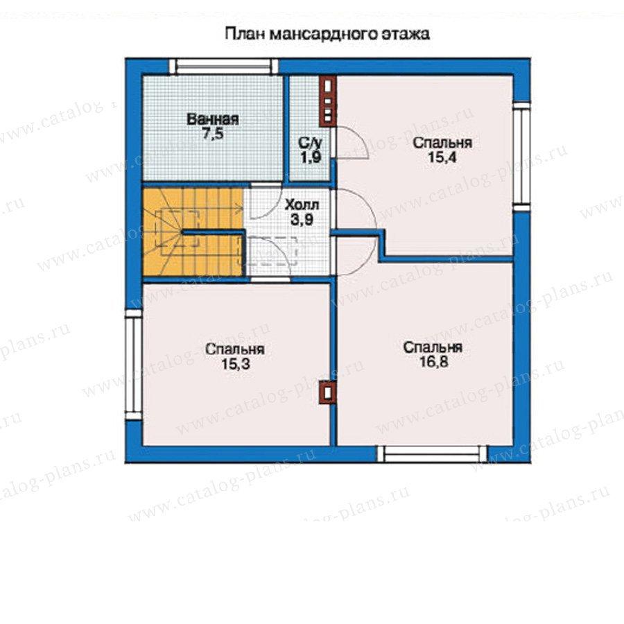 План 2-этажа проекта 55-25