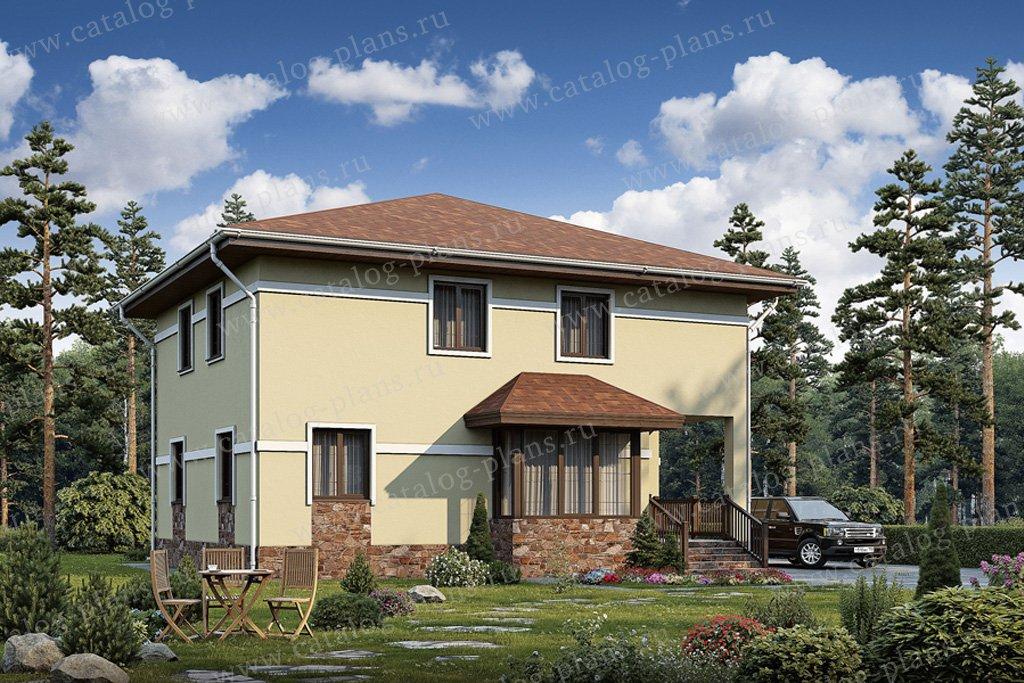 Проект жилой дом #56-99 материал - газобетон, стиль европейский