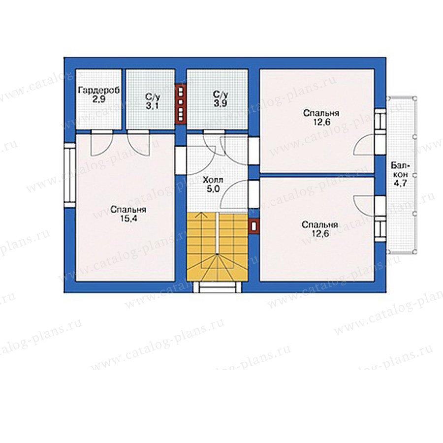 План 2-этажа проекта 55-31