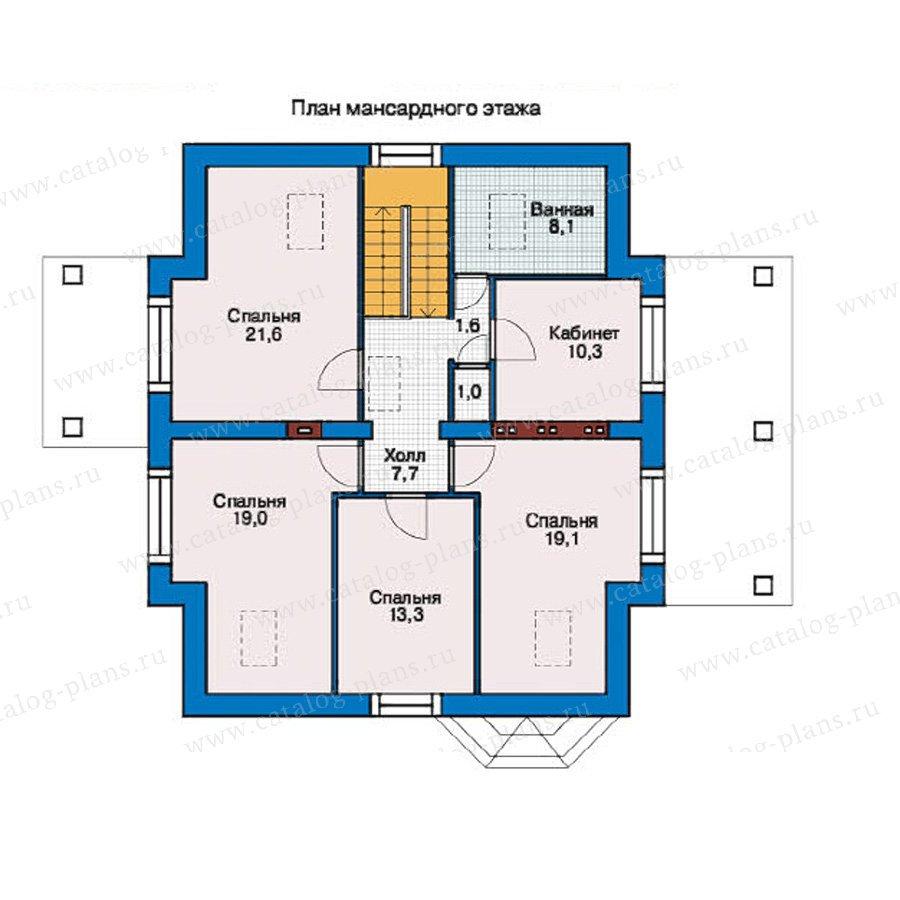 План 2-этажа проекта 54-87