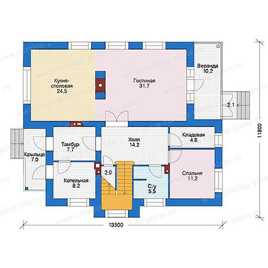 План 1-этажа проекта 56-04