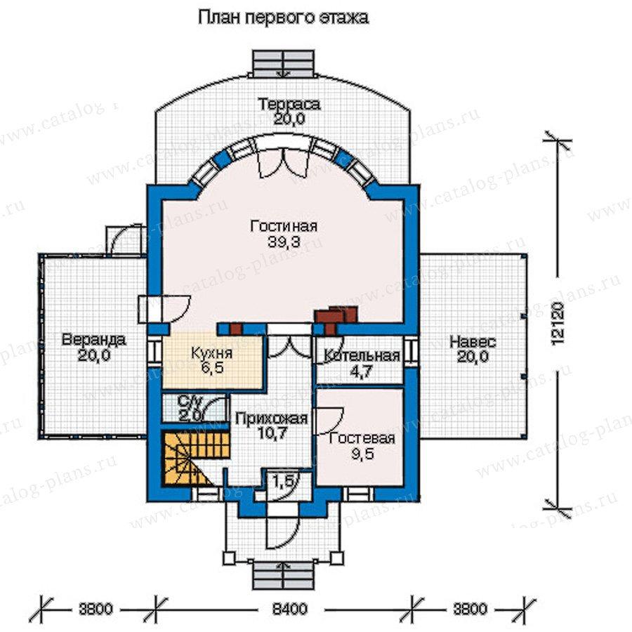 План 1-этажа проекта 55-20