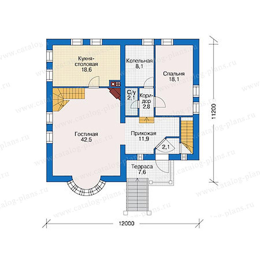 План 2-этажа проекта 55-90