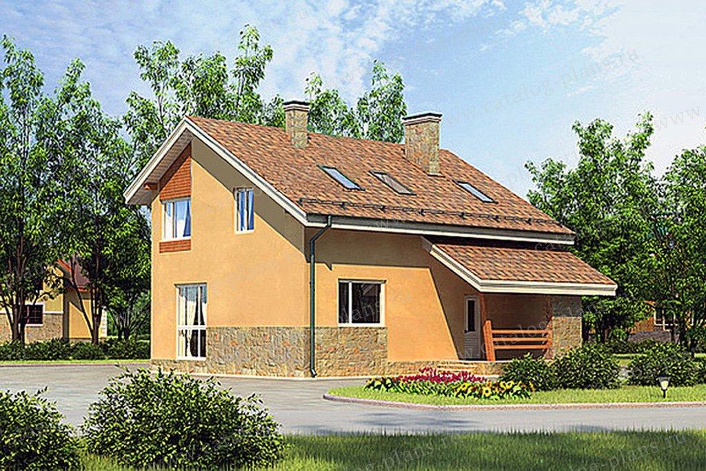 Проект жилой дом #55-45 материал - газобетон, стиль современный