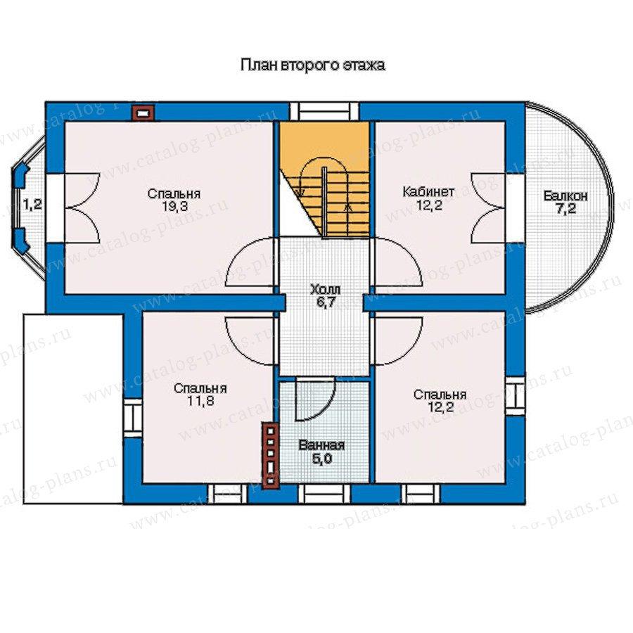 План 2-этажа проекта 54-91