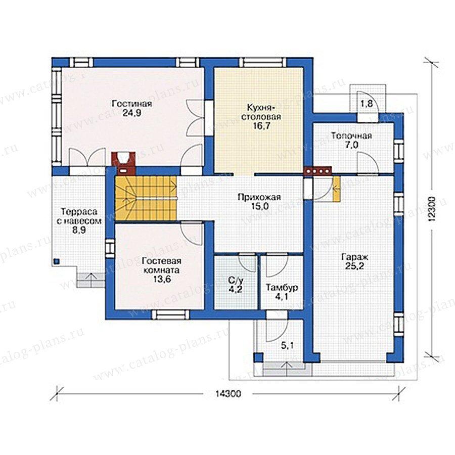 План 1-этажа проекта 55-47