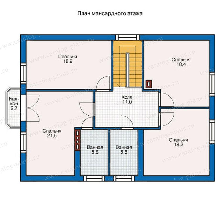 План 2-этажа проекта 55-07