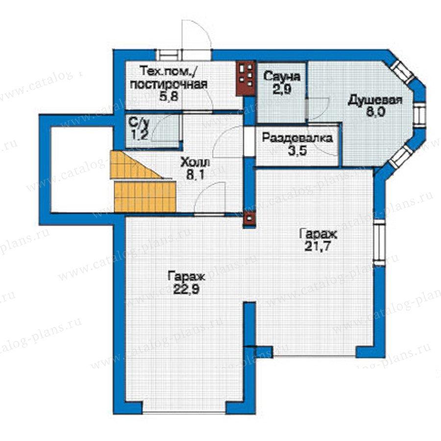 План 1-этажа проекта 54-64
