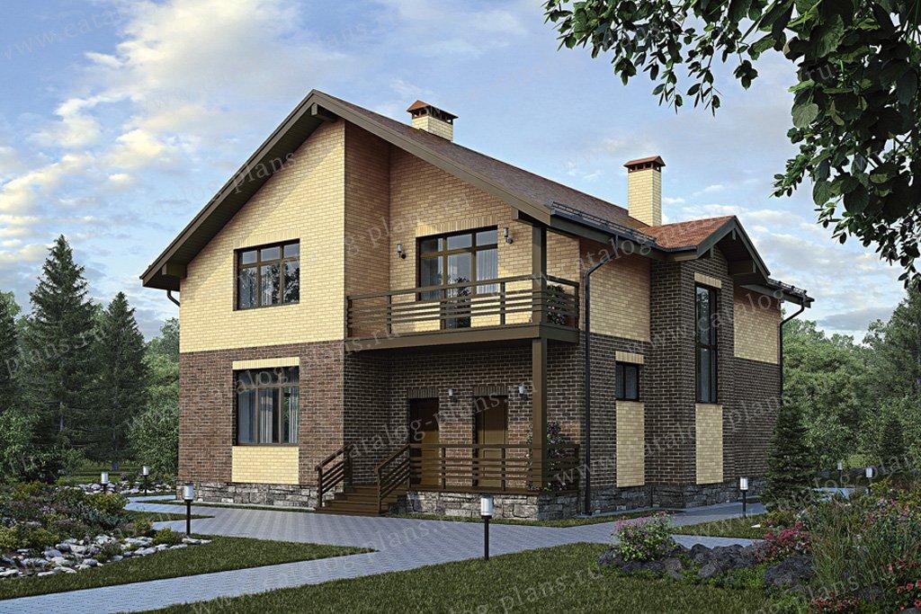 Проект жилой дом #56-07 материал - газобетон, стиль современный