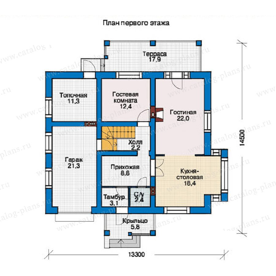 План 1-этажа проекта 55-14