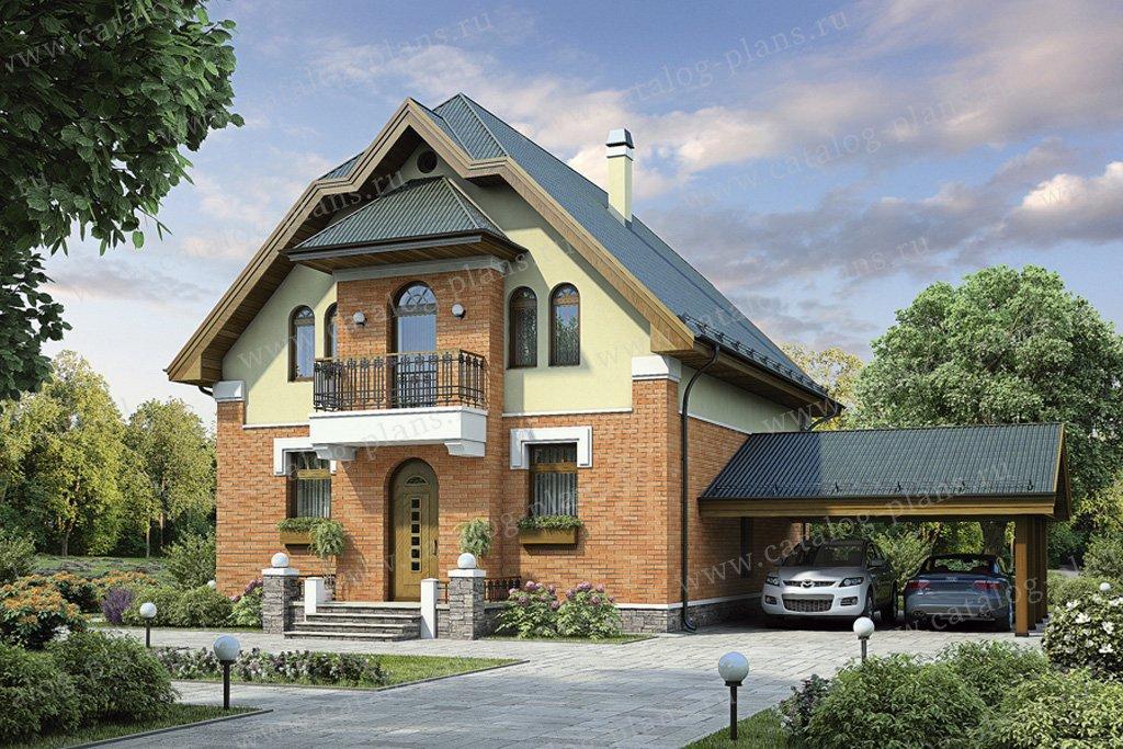 Проект жилой дом #55-18 материал - газобетон, стиль модерн