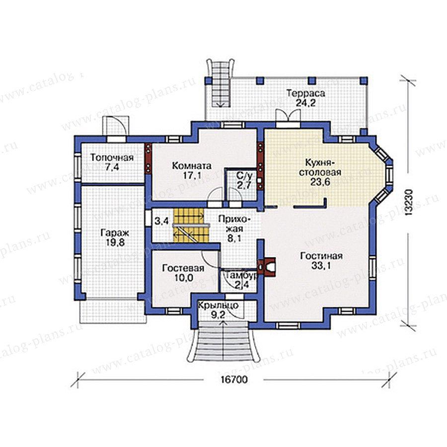 План 2-этажа проекта 54-82