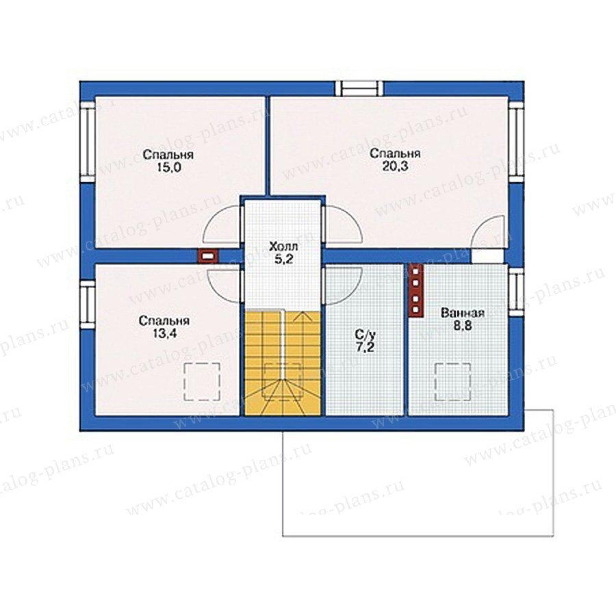 План 2-этажа проекта 55-45