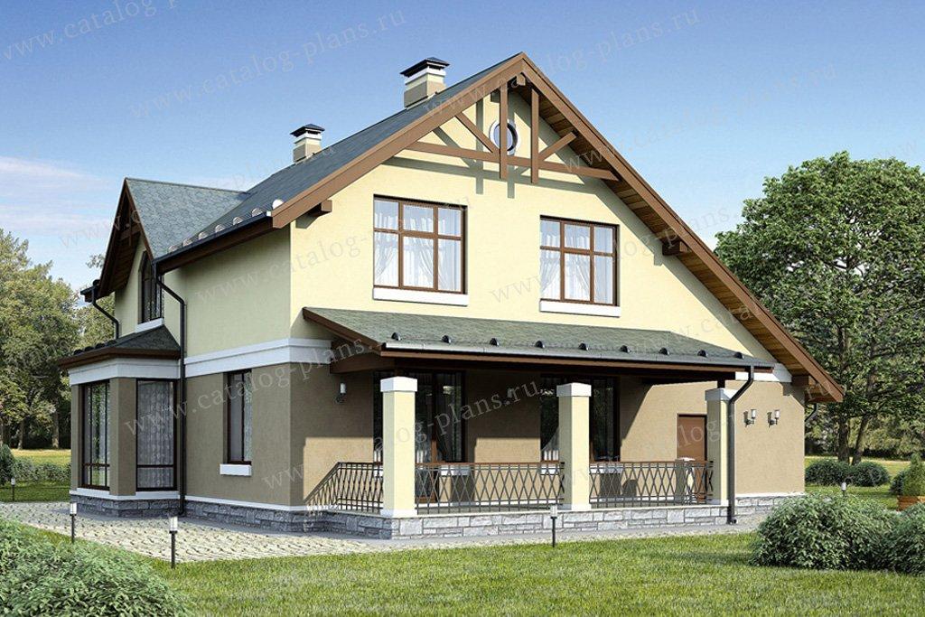 Проект жилой дом #55-14 материал - газобетон, стиль европейский