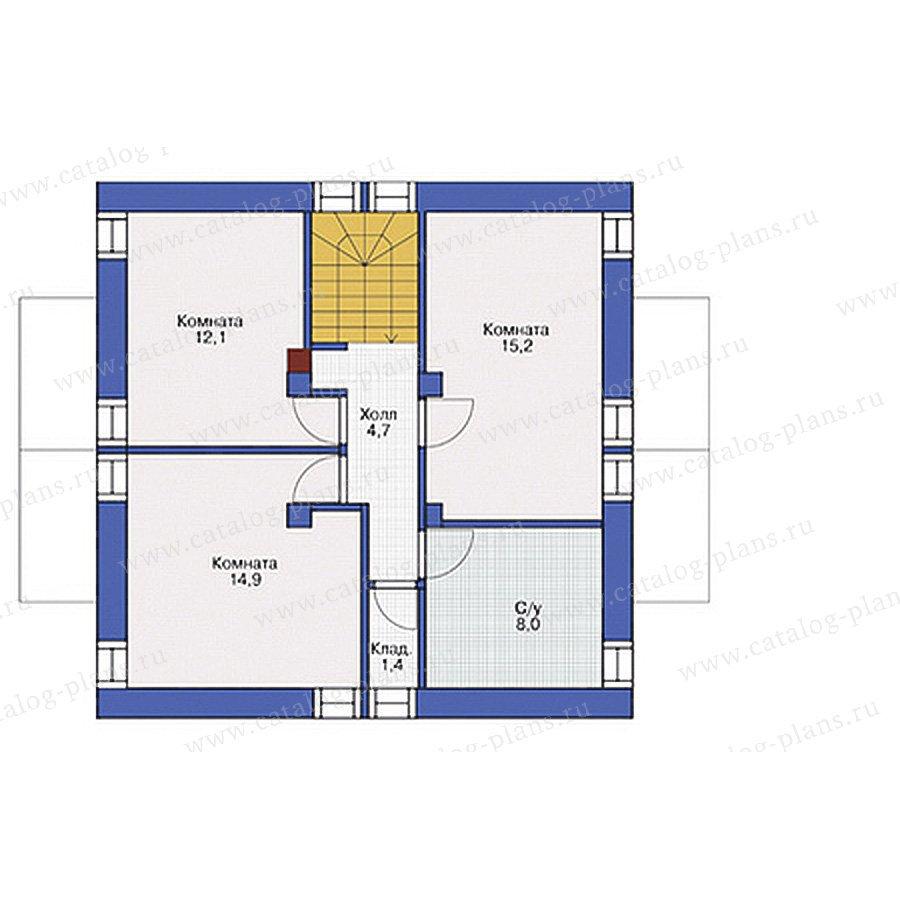 План 2-этажа проекта 54-80