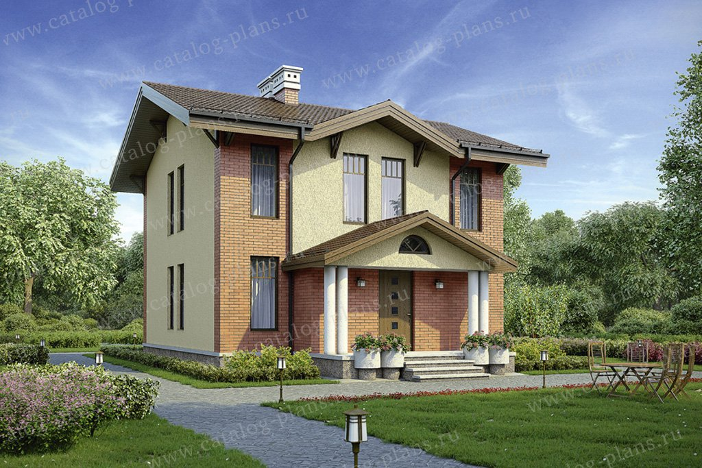 Проект жилой дом #56-94 материал - газобетон, стиль европейский