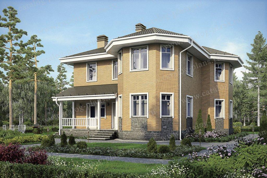 Проект жилой дом #56-97 материал - газобетон, стиль европейский