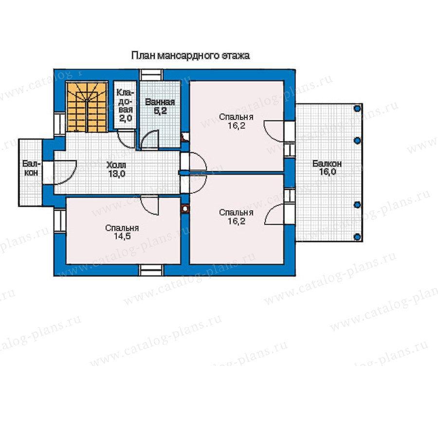План 2-этажа проекта 55-17