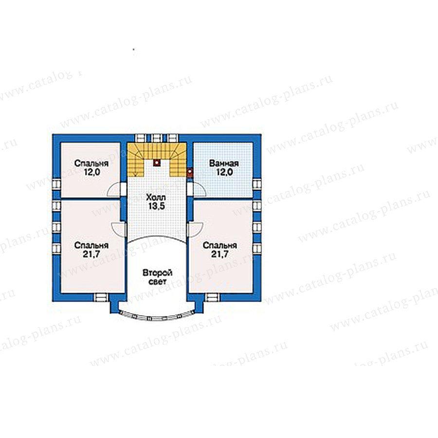 План 2-этажа проекта 56-21