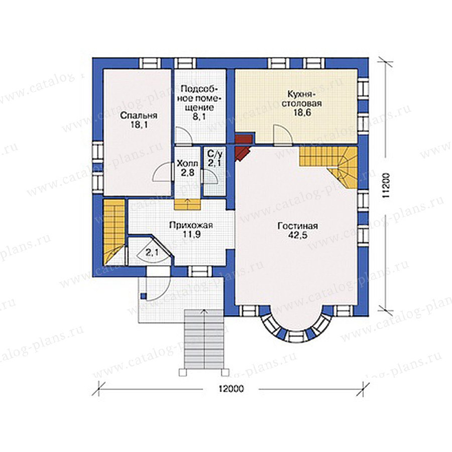 План 2-этажа проекта 55-00