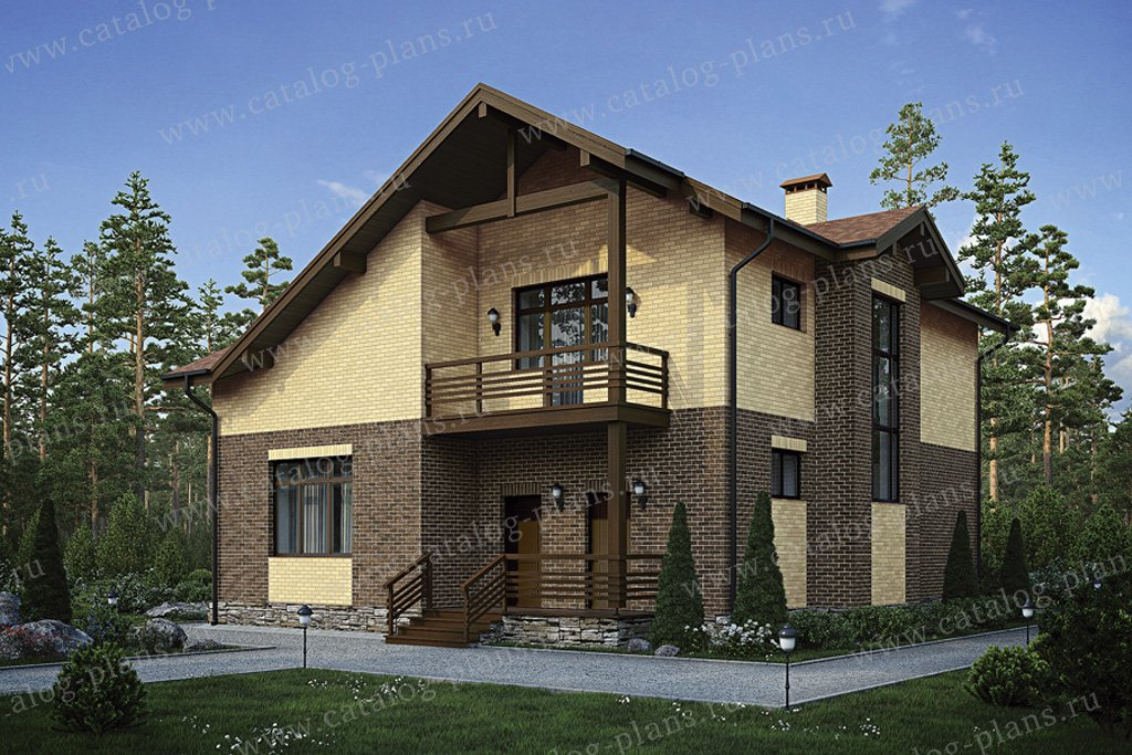 Проект жилой дом #56-04 материал - газобетон, стиль современный