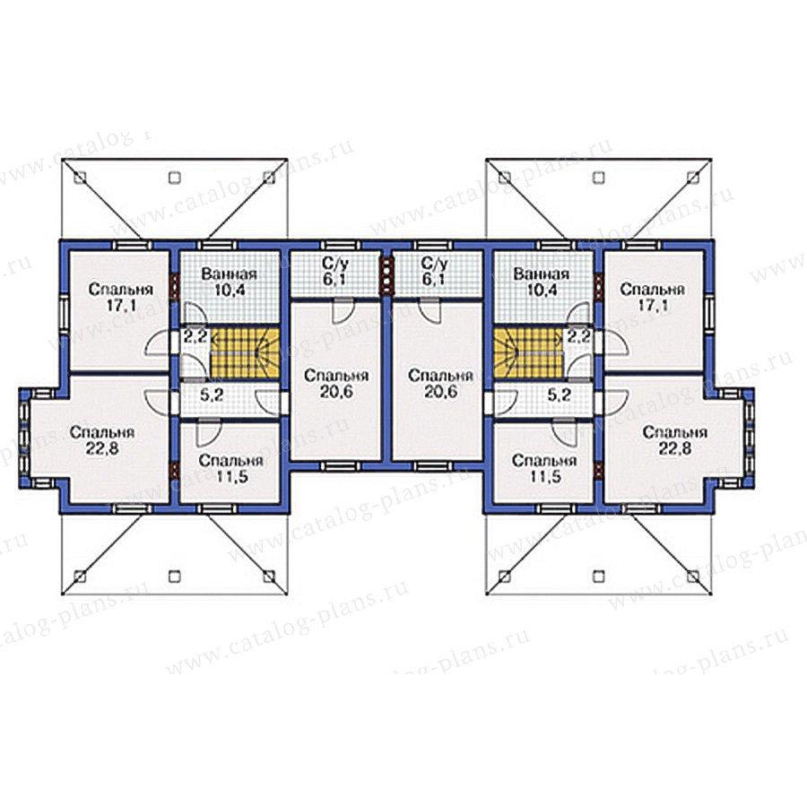План 2-этажа проекта 54-73