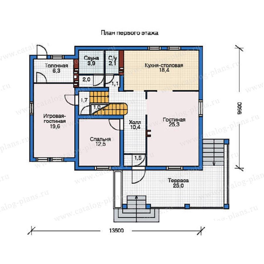 План 1-этажа проекта 55-03