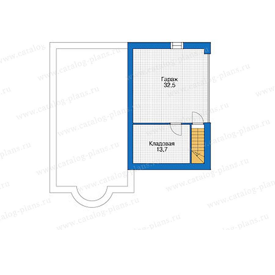 План 1-этажа проекта 55-90