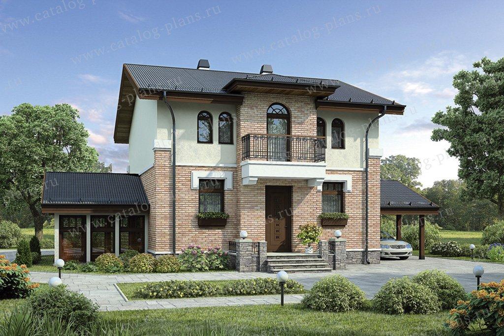 Проект жилой дом #55-20 материал - газобетон, стиль европейский