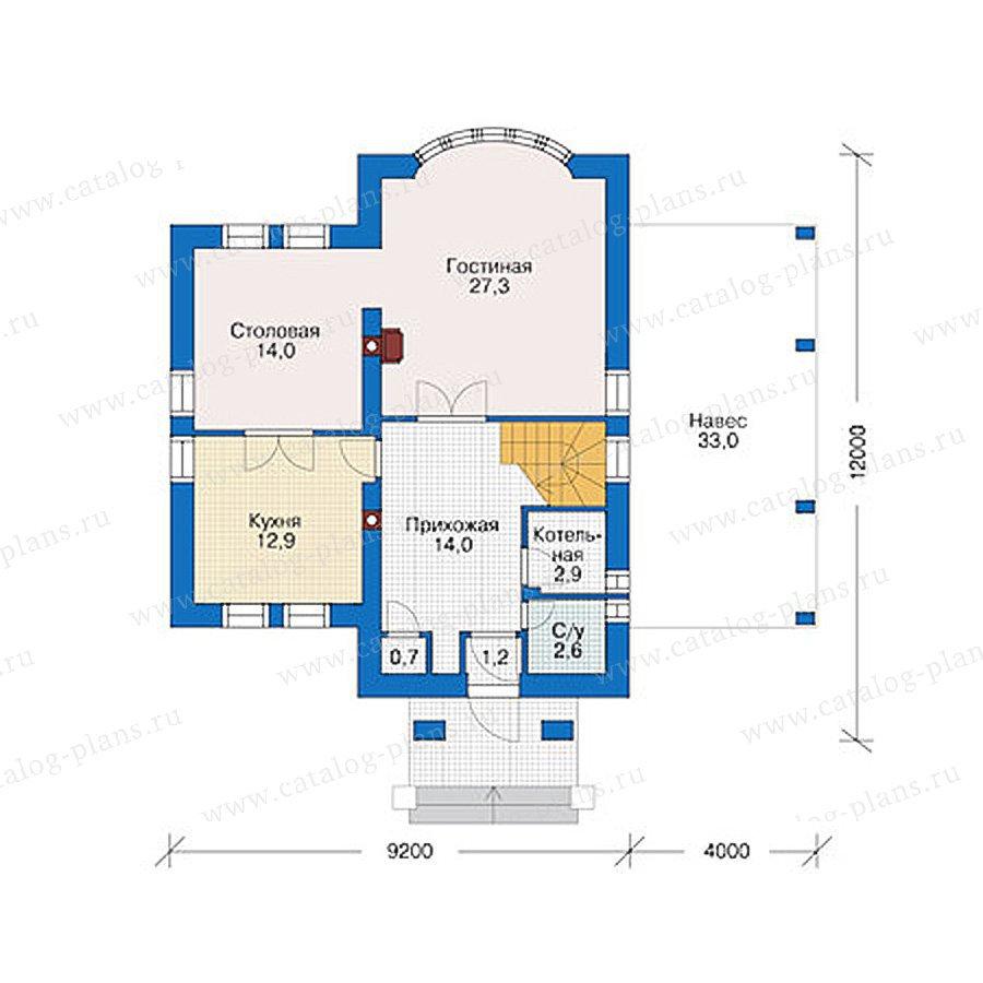 План 1-этажа проекта 55-87