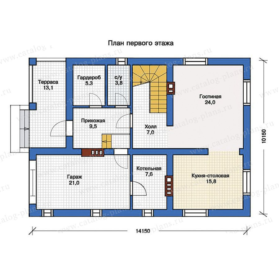 План 1-этажа проекта 57-09