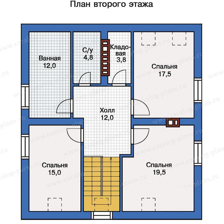 План 2-этажа проекта 57-11